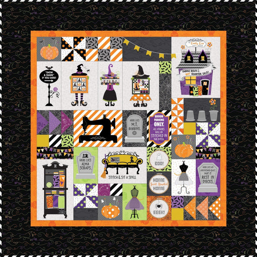 PREORDER! Candy Corn Quilt Shoppe - FABRIC KIT ONLY - uses Hometown Halloween by Kim Christopherson of Kimberbell for Maywood Studio - RebsFabStash