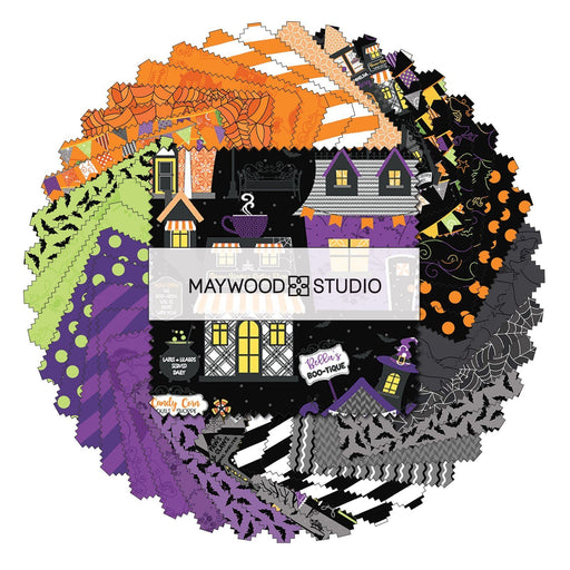"PREORDER! Hometown Halloween - Charm Pack - by Kim Christopherson of Kimberbell for Maywood Studio - 5"" Squares (42) - RebsFabStash"