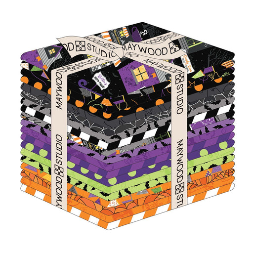 "PREORDER! Hometown Halloween - Fat Quarter Bundle (19) - by Kim Christopherson of Kimberbell for Maywood Studio - 18"" x 21"" - RebsFabStash"