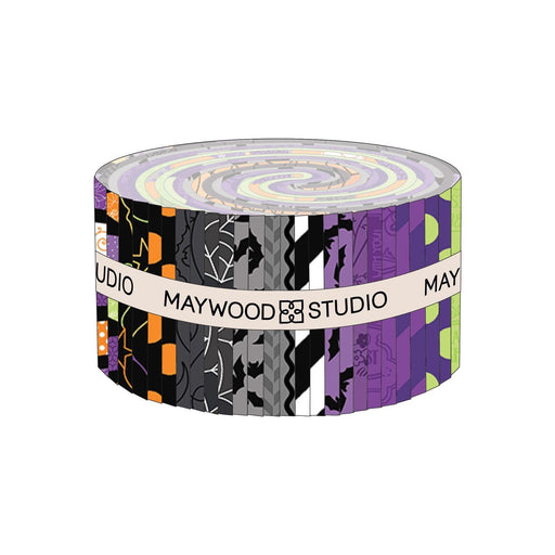 "PREORDER! Hometown Halloween - Jelly Roll - by Kim Christopherson of Kimberbell for Maywood Studio - 2.5"" Strips (40) - RebsFabStash"