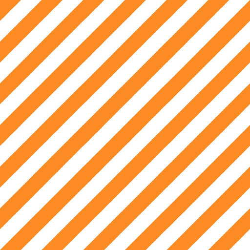 PREORDER! Hometown Halloween - per yard - by Kim Christopherson of Kimberbell for Maywood Studio - Orange/White Witchy Stripe - MAS9926-OW - RebsFabStash