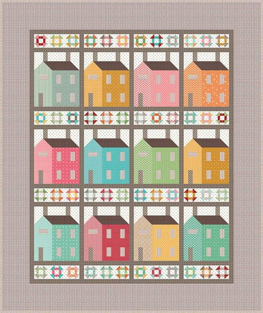 PREORDER! Lori Holt PRIM VILLAGE BOXED QUILT KIT - PRIM fabrics - Riley Blake - Expected to ship August 2020! - RebsFabStash