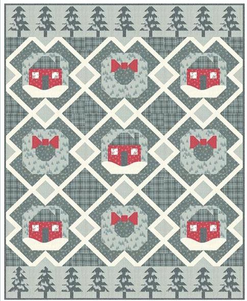 PREORDER! Reb's Winter in the Woods Quilt Kit - uses Juniper by Kate & Birdie for Moda - Pattern by Coach House Designs - uses Brushed Cotton! - RebsFabStash