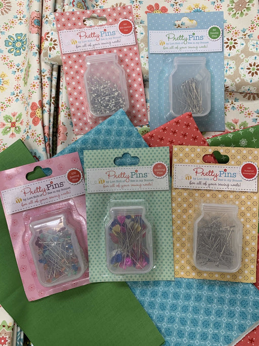 Pretty Pins - Pins - Lori Holt for Riley Blake Designs - Use for all her Sew Alongs - Bee in my Bonnet - We have them all! - RebsFabStash