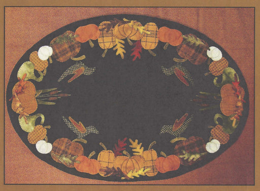 Primitive Gatherings - Autumn's Glory Table Mat - Pattern - Designed by Lisa Bongean - Flannel or Wool applique - C - RebsFabStash