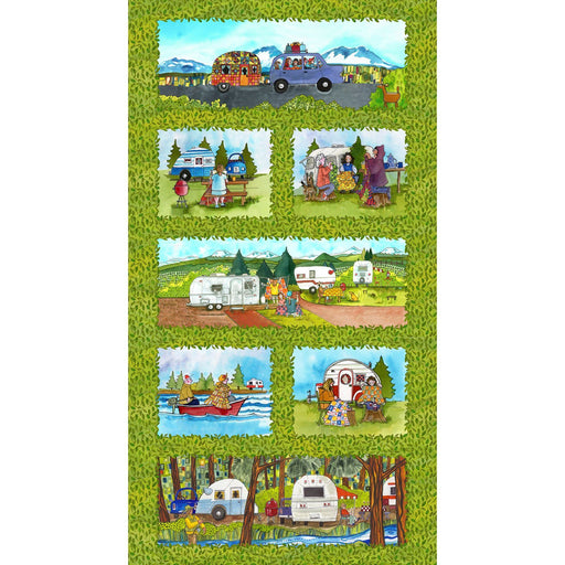 Quilter's Road Trip - Panel - Maywood Studio - Kathy Deggendorfer - Camping! Outdoors! Adventures! - RebsFabStash