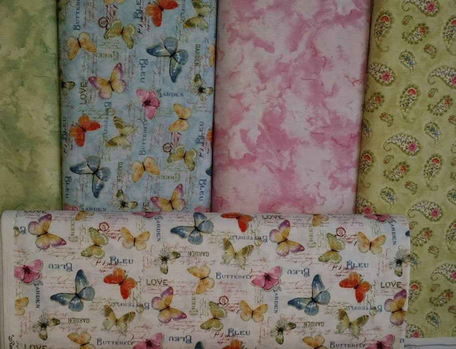 Rainbow Seeds - per yard - Wilmington Prints by Lisa Audit - Supremely Gorgeous!! Purple Paisley - 86421-613 - RebsFabStash