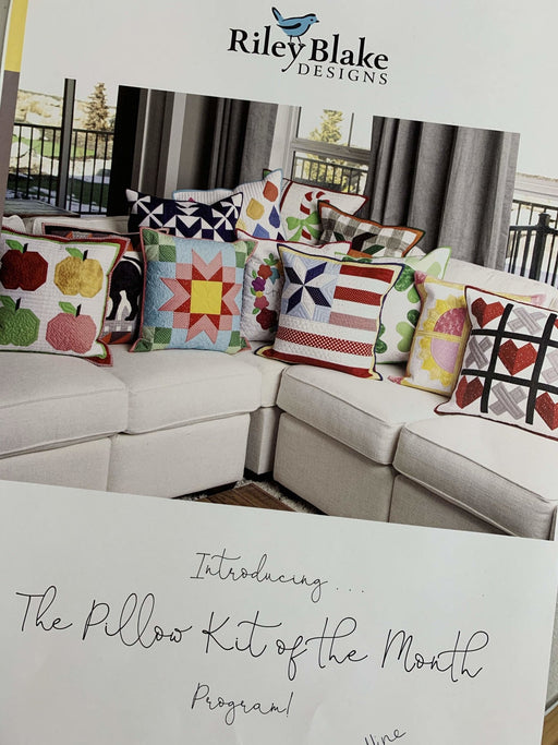 "RESERVATION - Riley Blake PILLOW KIT of the Month Club- Finished pillow sizes are approx 20"" x 20"" and INCLUDES backing! - RebsFabStash"