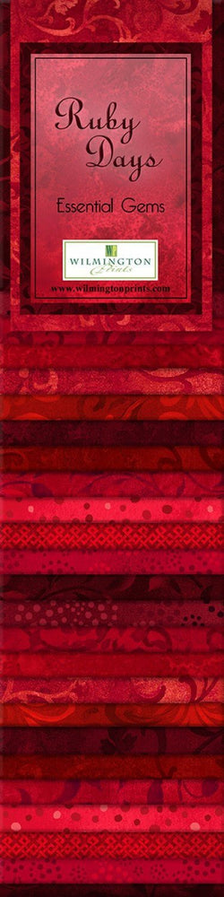 "Ruby Days - (24) 2.5"" Strips - Wilmington Prints - Gems - Shades of Red - RebsFabStash"