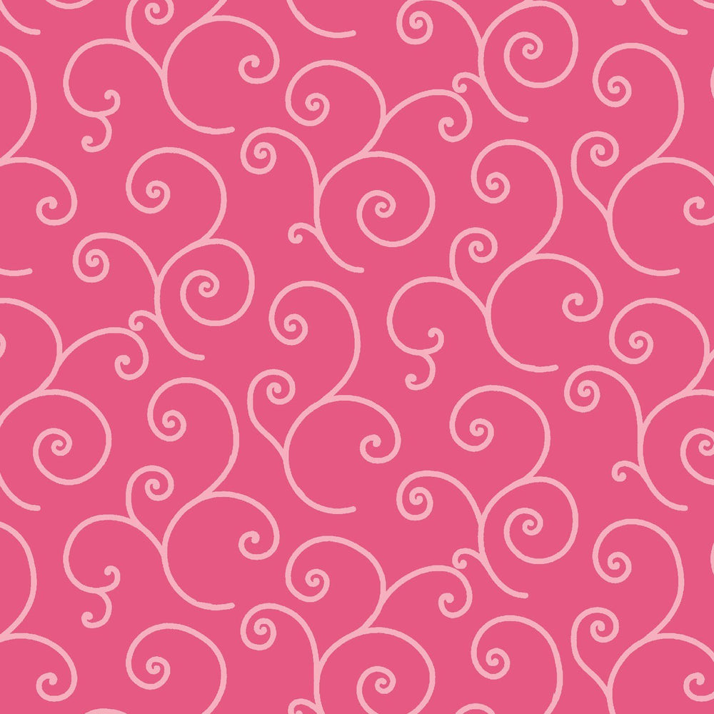 Scroll - Per Yard- Kimberbell Basics - Maywood Studio - Pink MAS8243-PP - RebsFabStash