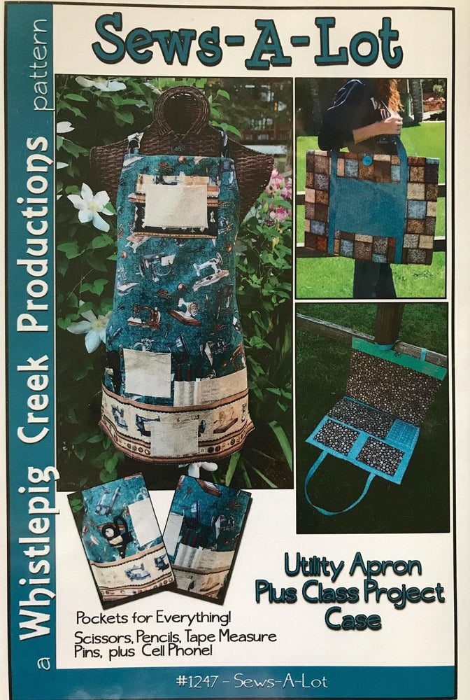 Sews A Lot - Utility apron and project case pattern - Whistlepig Creek Productions - pockets galore! #1247 - RebsFabStash