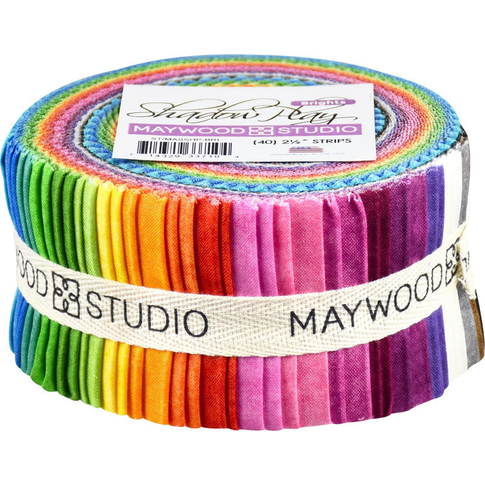 Shadow Play - (21) Fat Quarter Fabric Bundle - Maywood Studio - Finally Precuts!! - Brights bundle - RebsFabStash