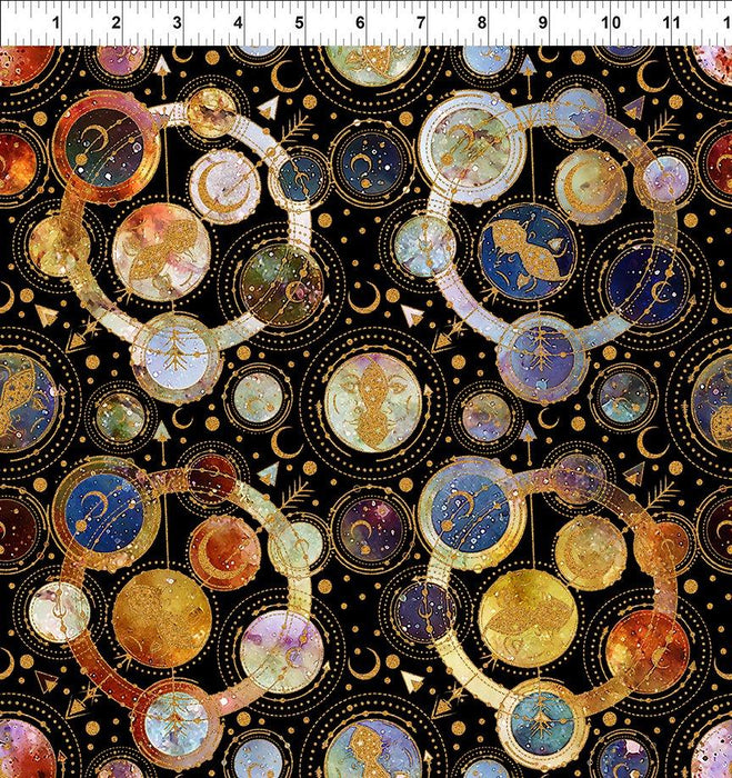 SHIPPING NOW!!- Cosmos Quilt Kit - Cosmos Fabric Collection - Jason Yenter- In the Beginning Fabrics - Planets and stars! - RebsFabStash