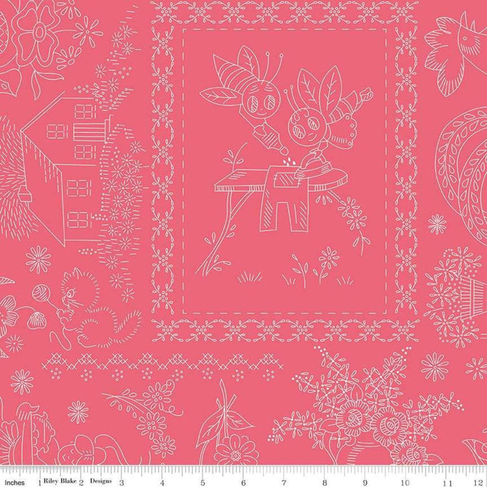 SHIPPING NOW!! Lori Holt Granny's Garden QUILT KIT - Granny Chic fabrics - Riley Blake - Granny Chic Sew Along - Options for backing! - RebsFabStash