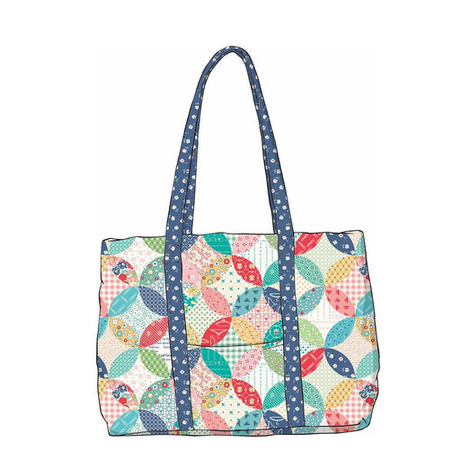 SHIPPING NOW- Vintage Happy 2 Quilted Designer Bag - Vintage Happy 2 fabrics - Riley Blake - RebsFabStash