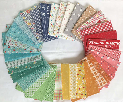 "SHIPS NOW! Farm Girl Vintage - Fat Quarter Bundle (34) 18"" x 22"" - Lori Holt - Riley Blake Designs - Farm Sweet Farm Sew Along - RebsFabStash"