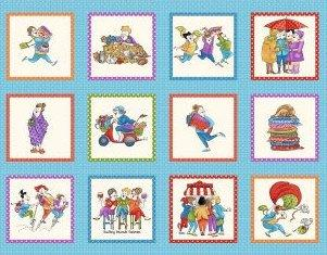 "Shop Hop - Panel - Henry Glass by Bonnie Krebs - SEW Cute!! Blocks 5"" - RebsFabStash"