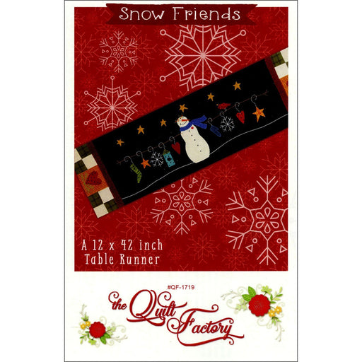 Snow Friends - The Quilt Factory by Deb Grogan - Easy Precut table runner kit, includes pattern, fabrics, applique pieces- Woolies Flannel! - RebsFabStash