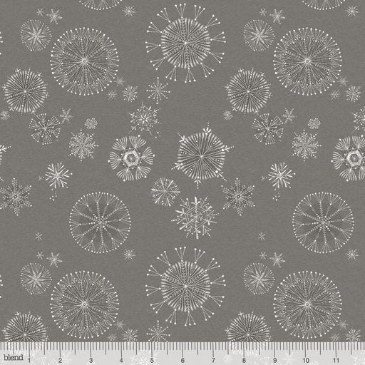 Snow Fun - Menagerie - PER YARD - Cori Dantini - Blend - ADORABLE Christmas prints! Snowflakes on Light Blue Snowy Day - RebsFabStash