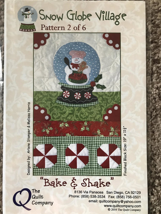 Snow Globe Village - Block of the Month Quilt Pattern - Complete set PLUS Accessory pack! - patterns by Melissa Harris & Arlene Stamper - RebsFabStash
