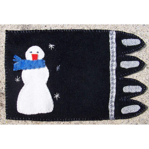 Snowman Mug Rug Kit - Includes wool and glue! - In the Patch Designs - Phyllis Meiring - craft kit, wool kit - RebsFabStash