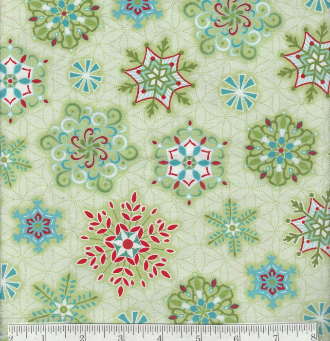 Sparkle - Per Yard - Contempo by Benartex - by Amanda Murphy - Red Swirls with GREEN Leaves - RebsFabStash