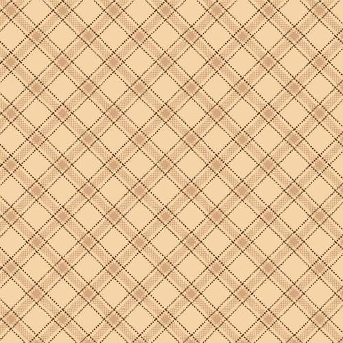 "Spiced Quilt Back - per yard -by Kim Diehl - Henry Glass - 108"" wide Quilt Backs 0950-44 - Light Tan Plaid - RebsFabStash"
