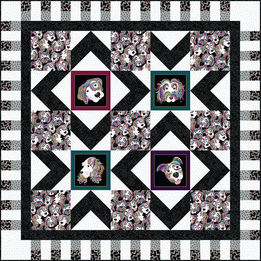 Stardom - Quilt Kit - uses Dog On it fabrics by Ann Lauer for Benartex - Lap Size - RebsFabStash