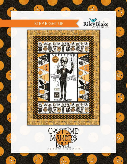 Step Right Up Quilt Kit - Uses Costume Maker's Ball fabric - Janet Wecker Frisch- Riley Blake Designs - Halloween quilt! - RebsFabStash