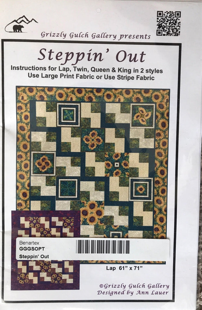 Steppin' Out by Ann Lauer - Lap - King quilt pattern from Grizzly Gulch Gallery - RebsFabStash