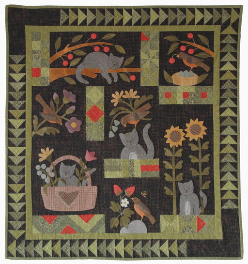 Susie's World - Block of the Month Quilt Pattern - Bonnie Sullivan - Complete Set 4 blocks - Flannel or Wool Applique - Primitive - RebsFabStash