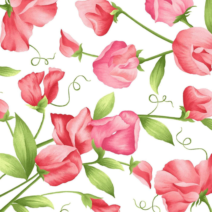 Sweet Pea Flannel by Maywood Studio! - Quilt Market Release - Per yard - Pink and Red dots on White - MASF8182-WR - RebsFabStash