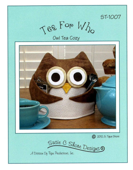 Tea for Who - Owl Tea Cozy - Pattern - By Susie Shore Designs - RebsFabStash