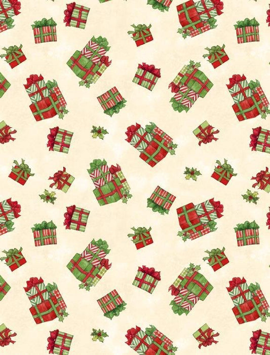 "The Joy of Giving - PROMO Fat Quarter Bundle + PANEL! - (15) 18"" x 21"" pieces PLUS (1) 24"" x 43"" panel - Wilmington Prints - Christmas, Holiday - RebsFabStash"