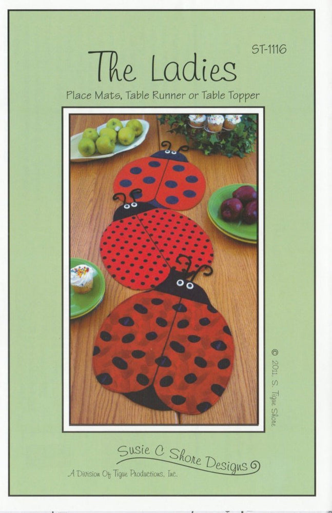 The Ladies Placemats or Table Runner - Pattern - By Susie Shore Designs - RebsFabStash