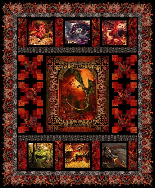 THEY ARE HERE!!! - RED Dragon Quilt Kit - Dragons Fabric Collection - Jason Yenter- In the Beginning Fabrics - Options for backing! - RebsFabStash