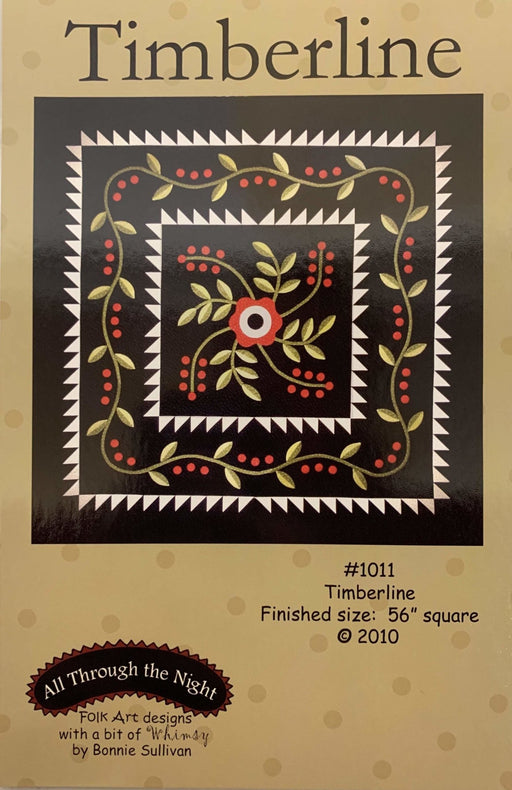 Timberline - wool or flannel PATTERN - Bonnie Sullivan-Flannel or Wool-All Through the Night -Primitive, applique - RebsFabStash