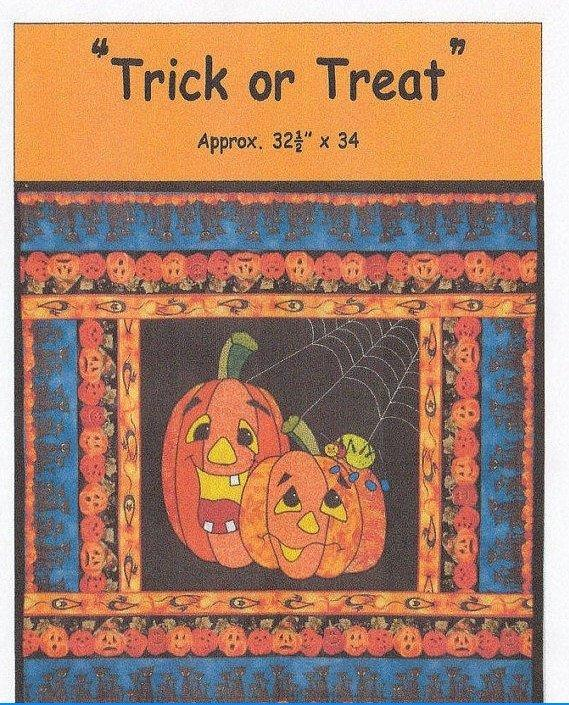 Trick or Treat - Wall Hanging or Table Runner Pattern - by Desiree's Designs - Halloween, Pumpkins, Fall - RebsFabStash