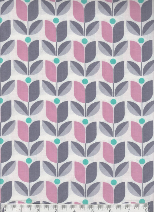 True Colors collection by Joel Dewberry - Free Spirit - Pattern Lodge Lattice, Color Nugray - grey - RebsFabStash