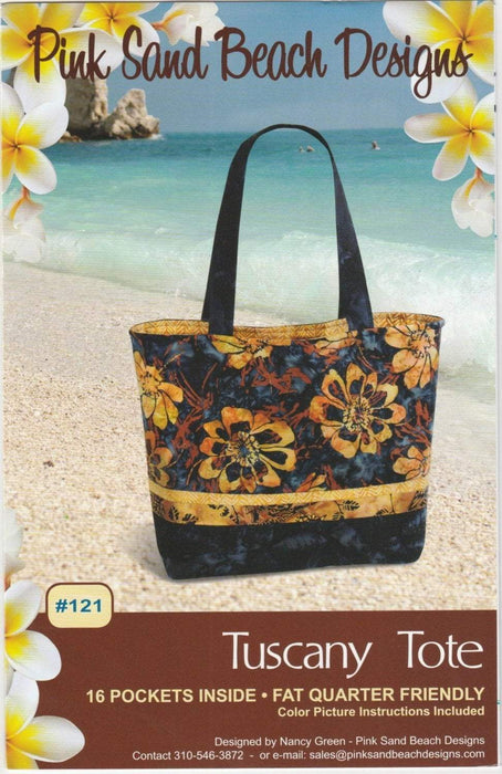 Tuscany Tote Pattern - Pink Sand Beach Designs - FQ Friendly - RebsFabStash
