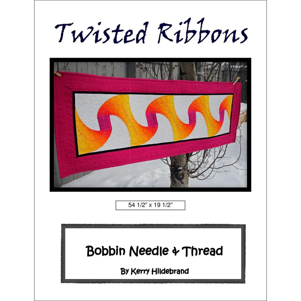 Twisted Ribbons - Wall Hanging or Table Runner Quilt Pattern - ombre fabrics - Designed by Kerry Hildebrand - RebsFabStash