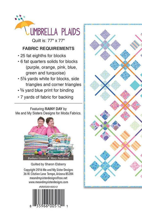 Umbrella Plaids - Quilt Pattern by Me and My Sister Designs - precut friendly - Assorted collections from Moda - RebsFabStash