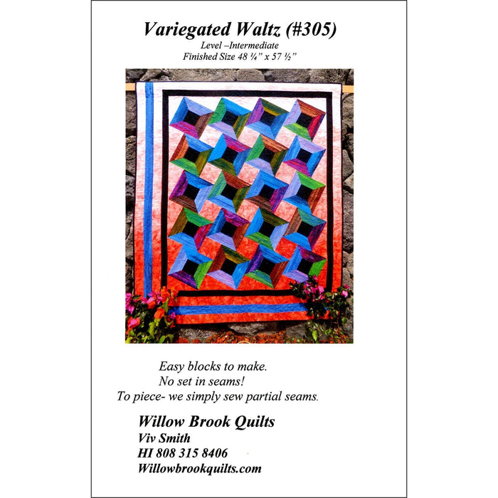 Variegated Waltz #302 - Quilt pattern - Gelato ombre fabrics - Maywood - Viv Smith - Willow Brook Quilts - C - RebsFabStash