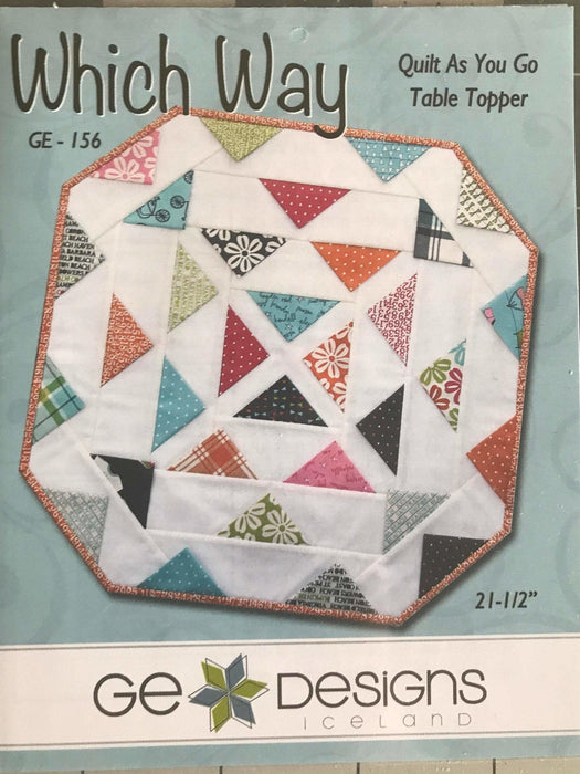 Which Way - Quilt as you go Table Topper Pattern - Mini Pattern - GE Designs - RebsFabStash