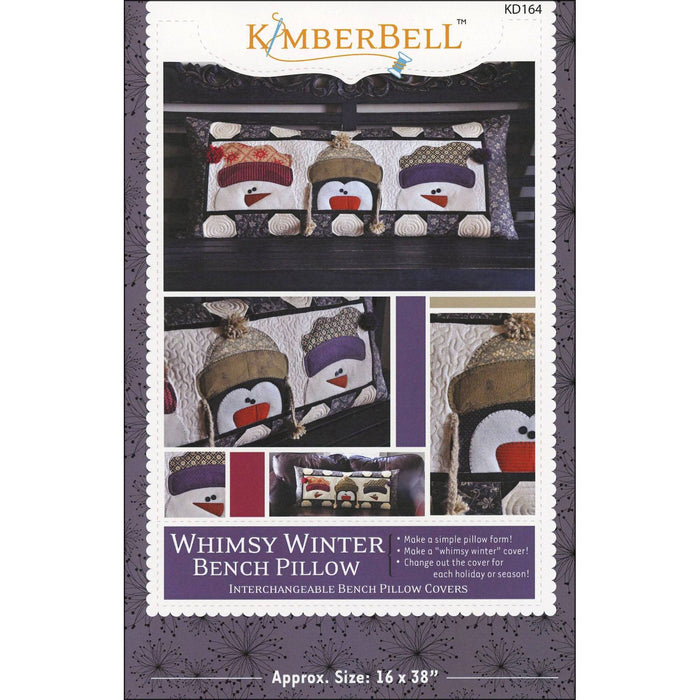 Whimsy Winter Bench Pillow - Pattern - by Kimberbell - Interchangeable Covers and Bench Pillow - Winter, snow, home decor, applique - C - RebsFabStash