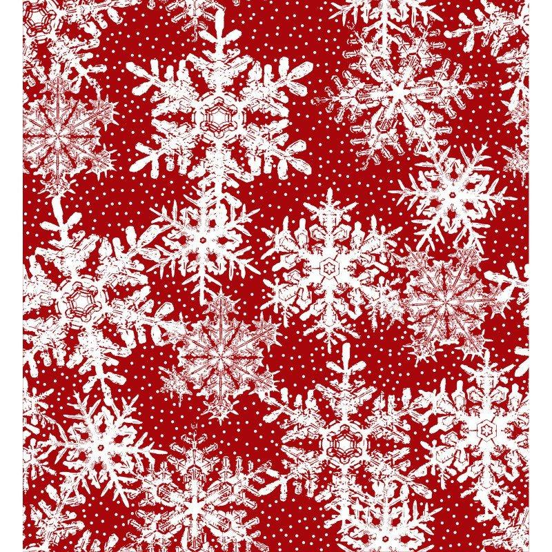 Winter Twist - Per Yard - In the beginning Fabrics by Jason Yenter - Cream Tonal or Blender - Snowflakes on red - EARLY RELEASE! - RebsFabStash