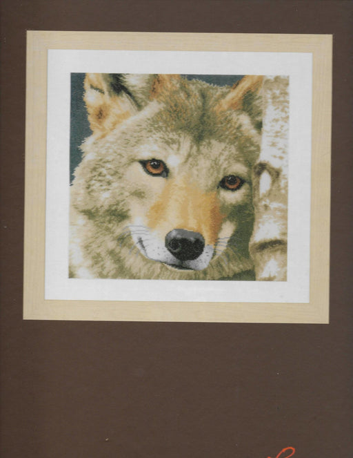 Wolf - LanArte Animal Cross Stitch Collection -DMC Cotton (27 ct) - Complete Counted Cross Stitch Kit - RebsFabStash
