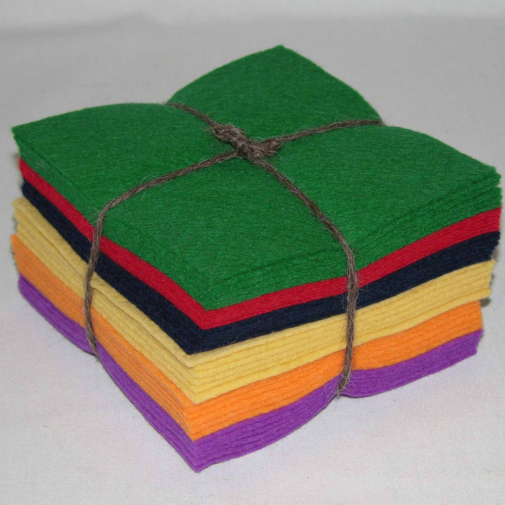 "Wool Felt Classic Charm Pack - 36 piece 5"" squares by National Nonwovens - RebsFabStash"