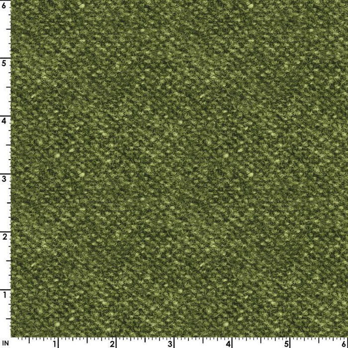 Woolies FLANNEL - Per Yard - Bonnie Sullivan for Maywood Studio - MASF 18502 - G - Plaid - Green - RebsFabStash