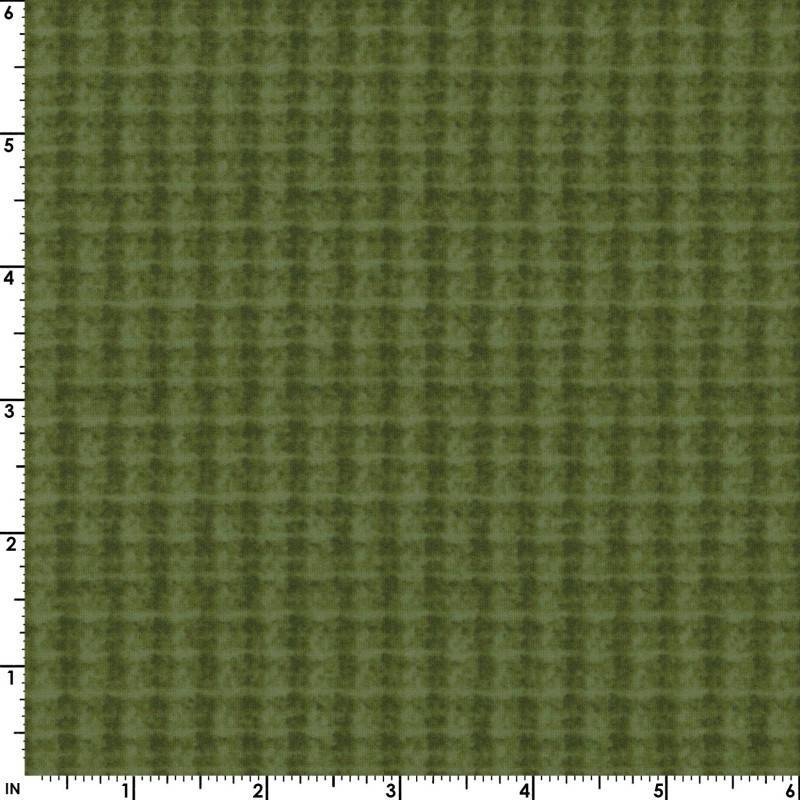 Woolies FLANNEL - Per Yard - Bonnie Sullivan for Maywood Studio - MASF 18504 - G - Double Weave - Green - RebsFabStash